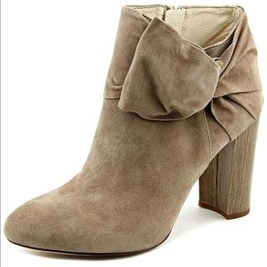 Theron Women Pointed Toe Suede Nude Ankle Boot